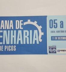 Em Picos, I Semana de Engenharia da região acontecerá de 05 a 11 de dezembro