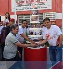 PADRE MARCOS 56 ANOS| Cobertura fotográfica  momento cívico, maratona masculina, sessão na Câmara Municipal e inauguração de obras